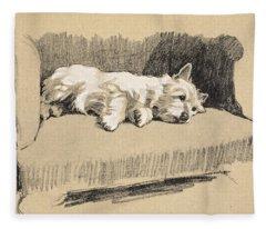 West Highlander, 1930 Fleece Blanket
