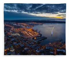 West Seattle Water Taxi Fleece Blanket