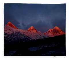 West Side Teton Sunset Fleece Blanket