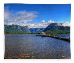 Western Brook Fjord. Fleece Blanket