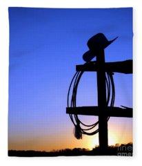 Western Sunset Fleece Blanket