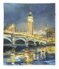 Westminster Bridge Fleece Blanket
