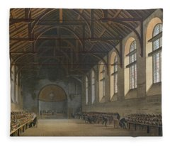 Westminster School Room, From History Of Westminster School, Part Of History Of The Colleges Fleece Blanket