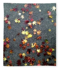 Wet Autumn Fleece Blanket