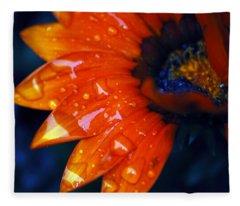 Wet Petals Fleece Blanket