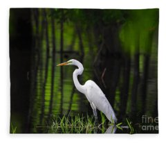 Wetland Wader Fleece Blanket