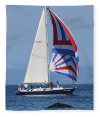 Whale Watching 1 Fleece Blanket