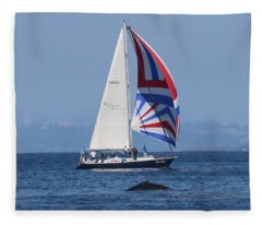 Whale Watching 2  Fleece Blanket