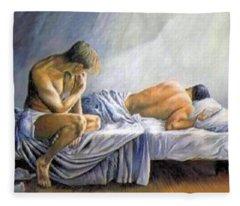 What Is He Dreaming Fleece Blanket