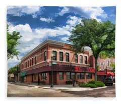Wheaton Front Street Panorama Fleece Blanket
