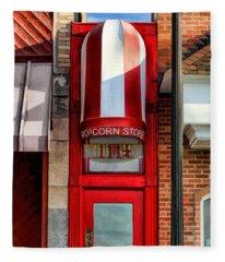 Wheaton Little Popcorn Shop Panorama Fleece Blanket