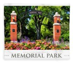 Wheaton Memorial Park Poster Fleece Blanket
