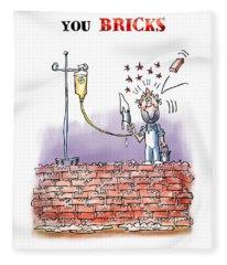 When Life Throws You Bricks Fleece Blanket