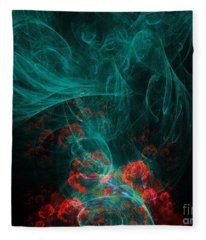 When The Smoke Clears They Bloom Fleece Blanket