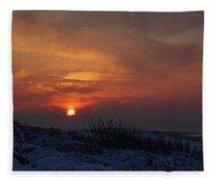 When The Sun Goes Down  Fleece Blanket