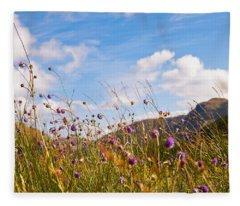 When The Sun Is Shining Everything Around Smiling Towards. Scotland Fleece Blanket