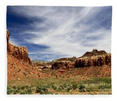 Where Earth And Sky Meet Fleece Blanket