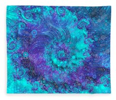 Where Mermaids Play Fleece Blanket