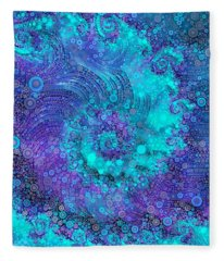Where Mermaids Play Fleece Blanket