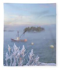 Where Morning Glories Grow Fleece Blanket