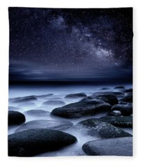 Where No One Has Gone Before Fleece Blanket