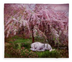 Where Unicorn's Dream Fleece Blanket