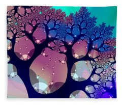 Whimsical Forest Fleece Blanket