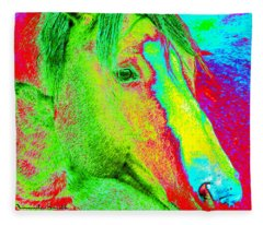 Up Close And Electrified Fleece Blanket