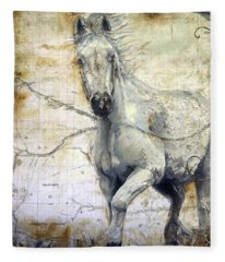 Whipsers Across The Steppe Fleece Blanket