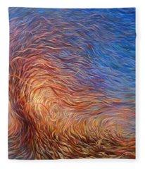 Whirl Tree Fleece Blanket