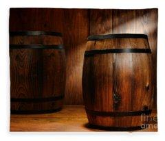 Whisky Barrel Fleece Blanket