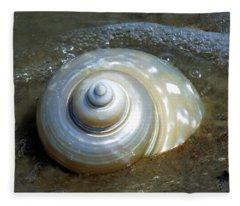 Whispering Tides Fleece Blanket