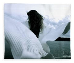 White Angel Fleece Blanket