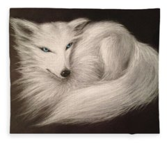 White Fox Fleece Blanket
