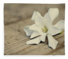 White Gardenia Fleece Blanket
