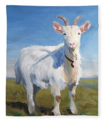 White Goat Fleece Blanket