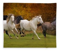 White Horse Vale Lipizzans Fleece Blanket