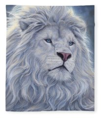 White Lion Fleece Blanket