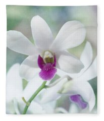 White Orchid Fleece Blanket