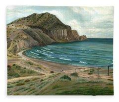 White Rock's Beach Fleece Blanket