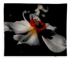 White Spring Fleece Blanket