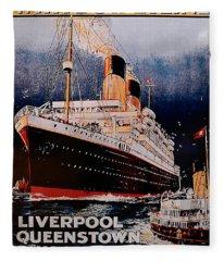 White Star Line Poster 1 Fleece Blanket