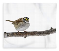 White-throated Sparrow Fleece Blanket