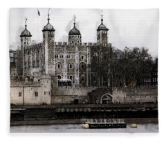 White Tower At Tower Of London Fleece Blanket
