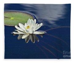White Water Lily Fleece Blanket