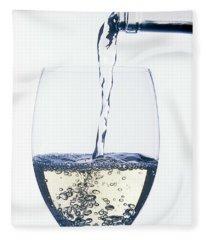 White Wine Pouring Fleece Blanket