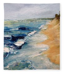 Whitecaps On Lake Michigan 3.0 Fleece Blanket