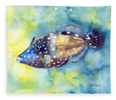 Whitespot Filefish Fleece Blanket