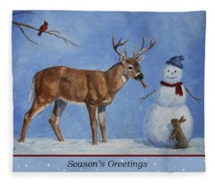 Whose Carrot Seasons Greeting Fleece Blanket
