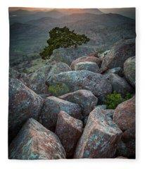 Wichita Mountains Fleece Blanket